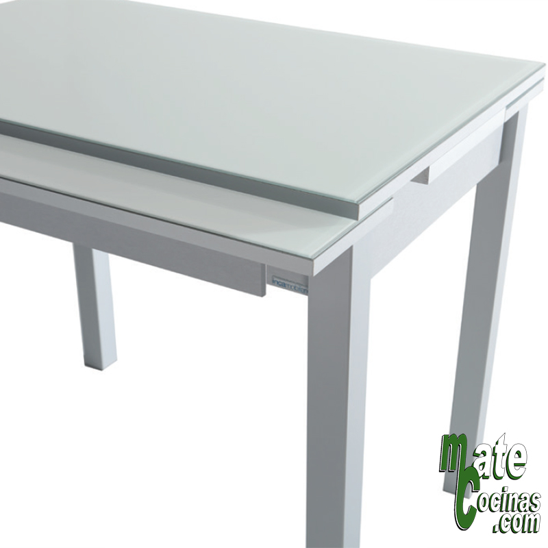 Mesa extensible frontal - mesas de cocina - mate cocinas