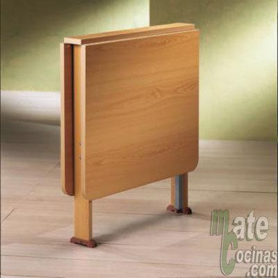 Mesa de alas pequeña - mesa plegable - mesas de cocina - mate cocinas